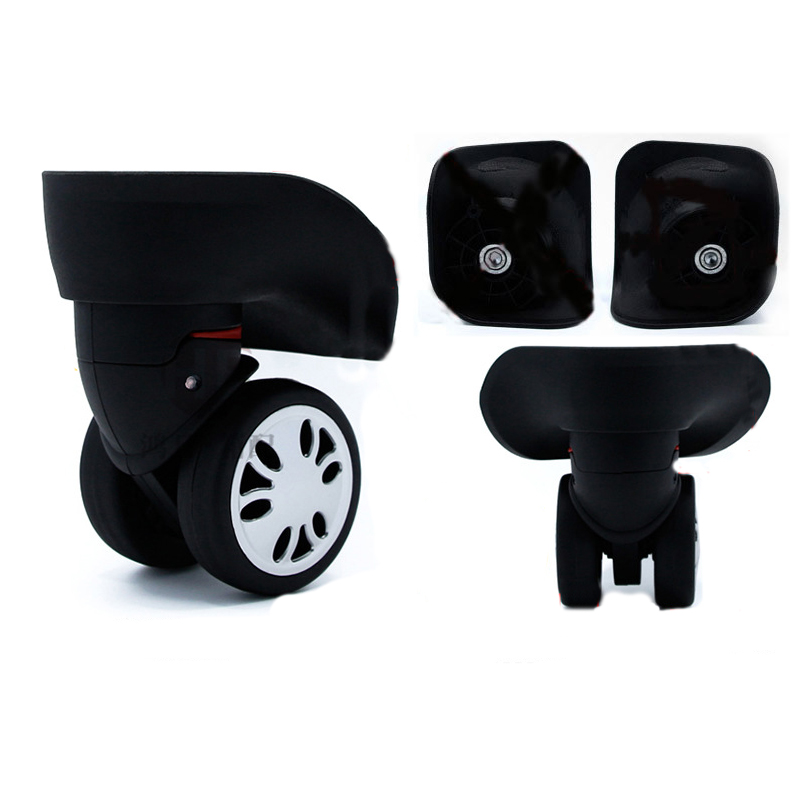 1Pair Two Size A08 Luggage Bag Wheel For Suitcase Replacement Wheels Suitcase Wheels High Quality Portable Black Bag Accessories