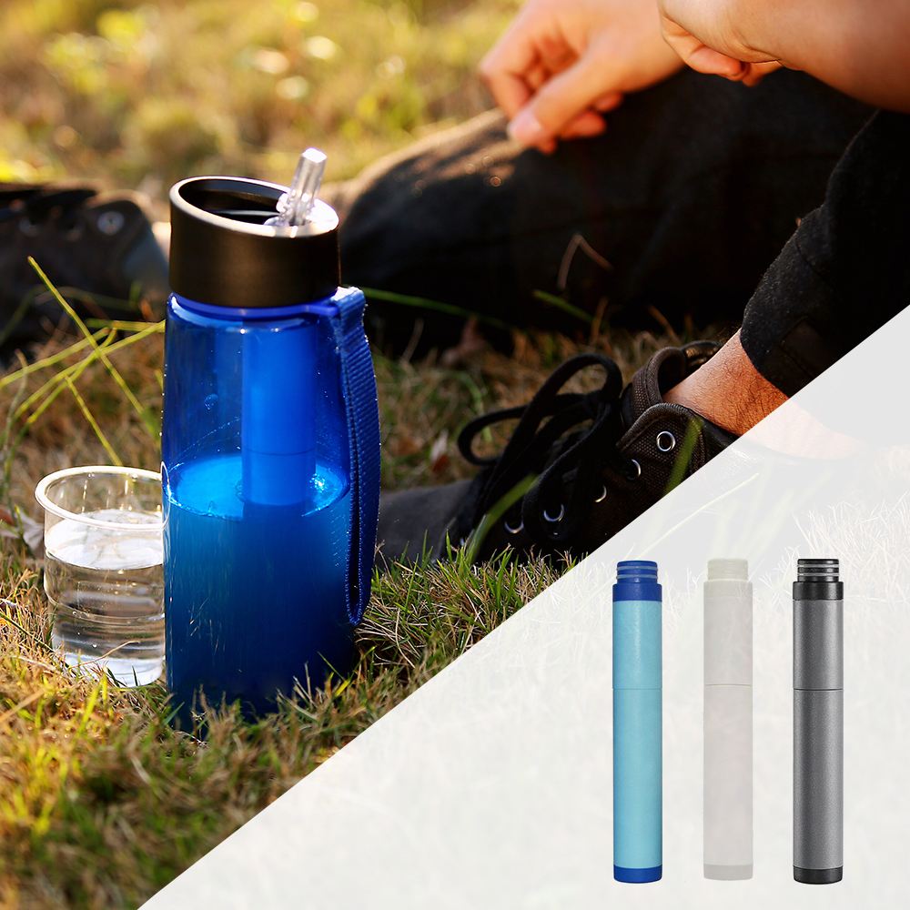 Water Bottle Replacement Filter Water Filtration Purifier for Outdoor Emergency Camping Hiking Traveling