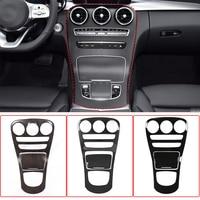 Car Center Console Gear Shift Panel Cover Trim ABS For Mercedes Benz C GLC Class W205 X253 2019 2020 Car Sticker Accessories