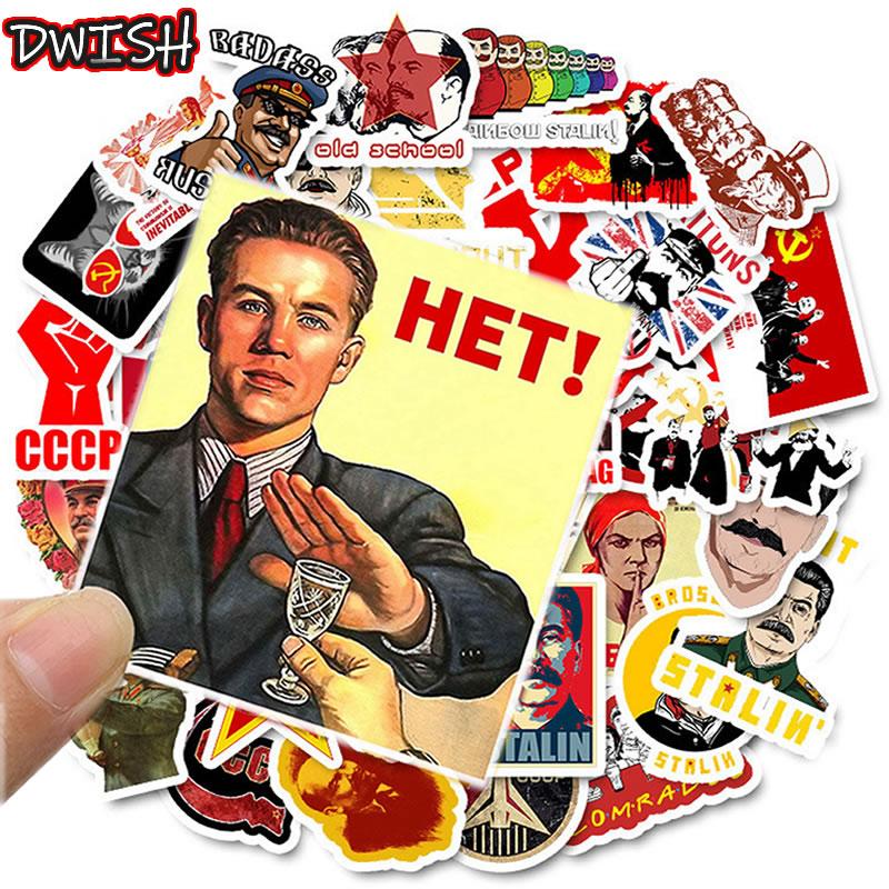 10/30/50PCS Mixed Soviet Union Stalin USSR CCCP HET Stickers Waterproof PVC Skateboard Guitar Luggage Motorcycle Sticker Kid Toy