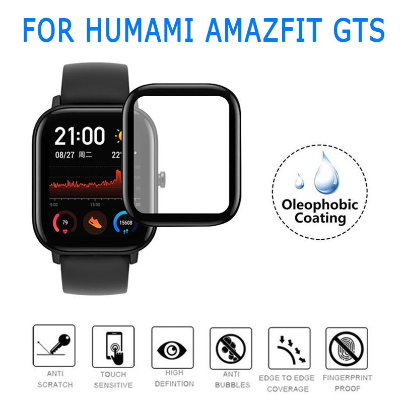 Screen Protector For Xiaomi Huami <font><b>Amazfit</b></font> GTS 3D Curved Edge Full Coverage Soft Clear Protective <font><b>Film</b></font> Smart Accessories TSLM1 image