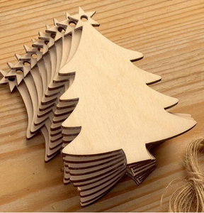 10pcs Wooden Christmas Decorations DIY Craft Toys Gifts