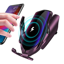 Draadloze Autolader Infrarood Auto Klem Lading Mount Snelle Mobiele Telefoon Autolader Voor Smart Telefoon