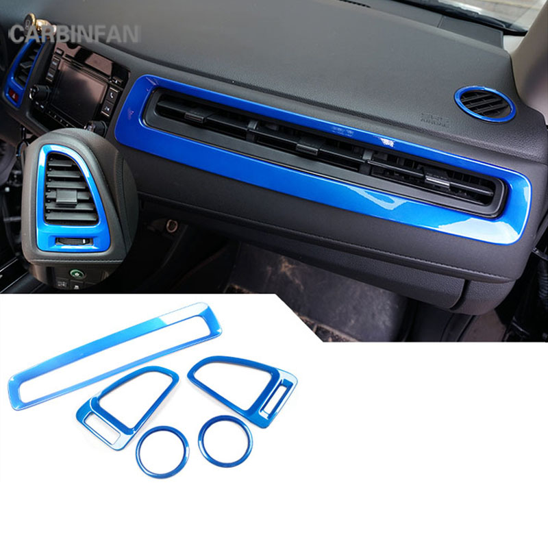 Interior Central Control Outlet Air Vent Cover Trim for Nissan Kicks 2017-2018