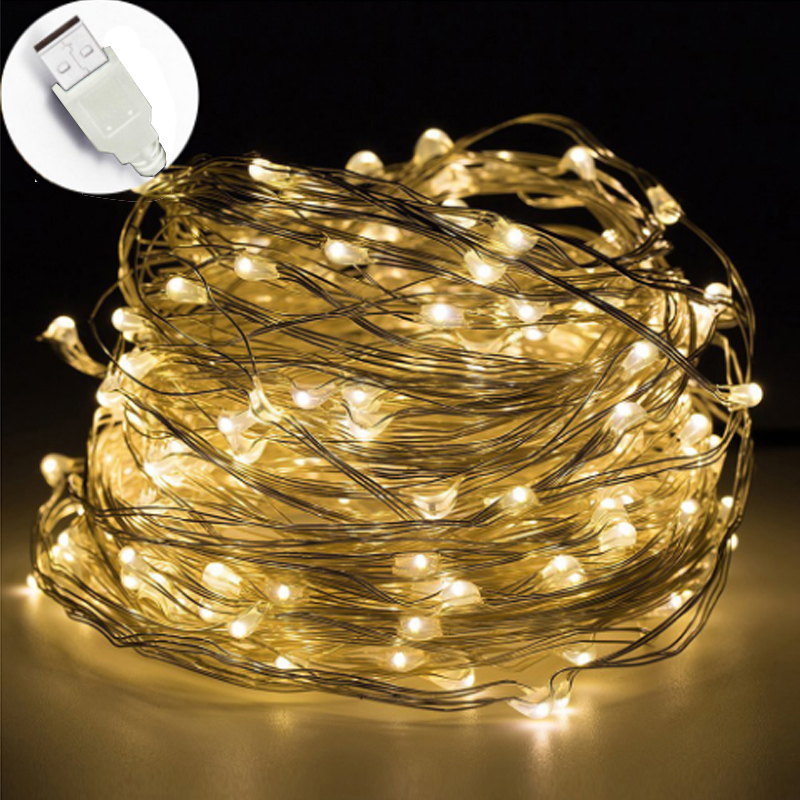10M USB LED String Light Waterproof LED Copper Wire String Holiday Outdoor Fairy Lights For Christmas Party Wedding Decoration