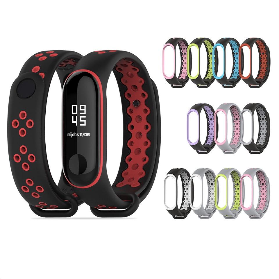 2019 New Watch Strap For Xiaomi Mi Band 3/4 Watch Belt Sport Bracelet For MI Band 3 4 Smart Watch Silicone Strap For Mi Band 3 4