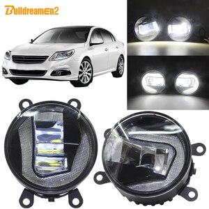 Buildreamen2 Car H11 Socket projektor LED światło przeciwmgielne + światło do jazdy dziennej biały 12V dla Renault Latitude sedan L70 2011-2015