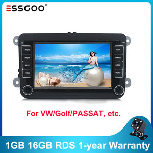 Essgoo 2din Android 9.1 Radio For VW Navigation RDS Bluetooth WIFI Audio Stereo Video MP5 Multimedia Player For Golf/Skoda/Polo
