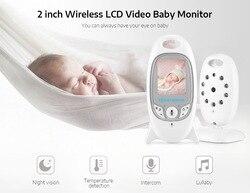 Digitale 2 pollici LCD 2.4GHz Wireless Baby Monitor Video Notturna A Raggi Infrarossi di Visione 600mAh di Rilevamento della Temperatura A due vie audio Monitor