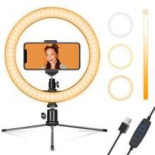 10 дюймовый светодиодный стол кольцевой светильник с adjustabletripod