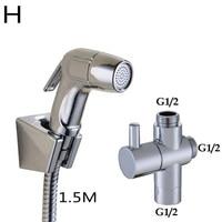 Toilet Adapter Spray Handheld Bidet Shower Head Wall Bracket Hose Kit Home Parts