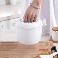 Tragbare Mikrowelle Reiskocher Multifunktionale lebensmittel Dampfer topf PP mikrowelle kochen Utensilien Isolierung Bento Lunch Box