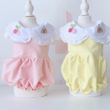 Girl Dog Cat Dress Shirt Strawberry Design Pet Puppy Skirt Spring/Summer Clothes Outfit 5 Sizes 2 Colours