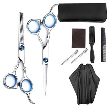 10/9/6 PCS Professional Hairdressing Scissors Kit Hair Cutting Scissors Hair Scissors Tail comb Hair Cape Hair Cutter Comb rimei abs band top comb tail comb set brown 2 pcs