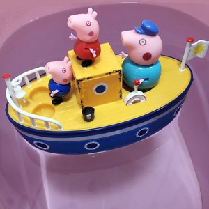 Image 5 - Peppa Pig toys Sailing Ship DiY Model pepa pig Family Anime Figure Toy Set Plastic Action Figure Toys for Children Birthday Gift