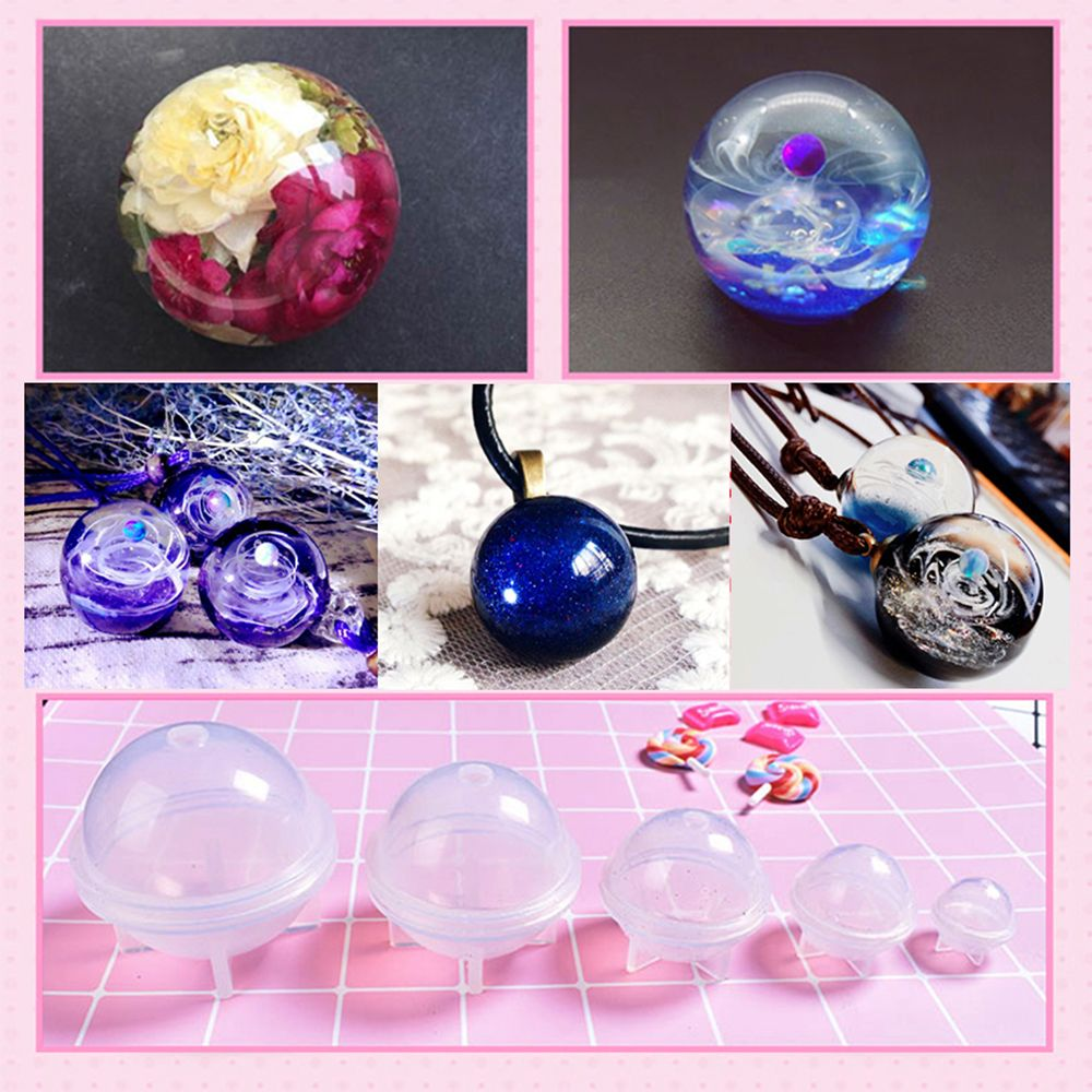 New Sphere Crystal Shape DIY Pendant Tools Jewelry Accessories Silicone Mold Epoxy Resin Decoration Molds Chocolate Cake Mould