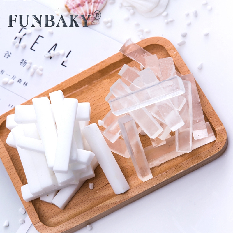 FUNBAKY DIY Transparent White Soap Base Whitening Cleansing Skin Hand Making Soap Making Bases Raw Material