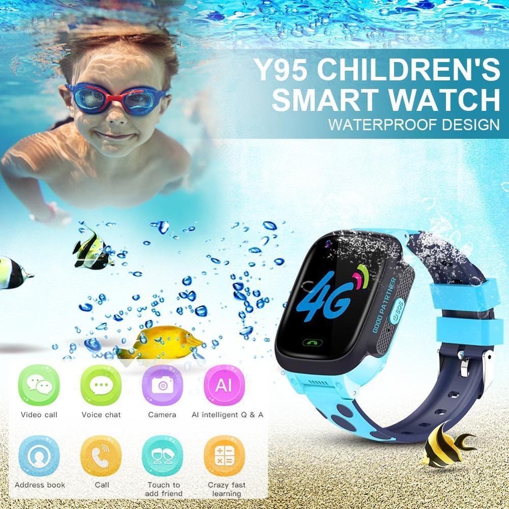 Y95 4G enfant montre intelligente téléphone GPS enfants montre intelligente étanche Wifi anti-perte SIM localisation Tracker Smartwatch HD appel vidéo - 6