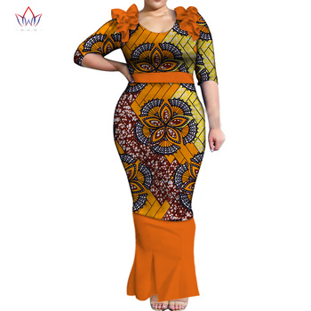 Long Sleeve Dresses for Women Party Wedding Casual Date Dashiki African Women Dresses African Dresses for Women Plush SizeWY5500