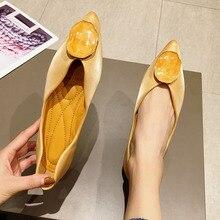 2020 Fashion Vrouwen Ballet Flats Schoenen Lente Herfst Dames Footwear Vrouwtjes Slip On Ondiepe Loafers Werk Enkele Schoenen zwart