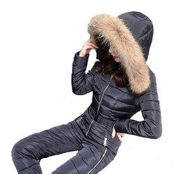 2019 Winter Schnee Skifahren Kleidung Set Oberbekleidung Warme ski Jacke und Hose Ski Anzüge Frauen Overall Frauen Outdoor Insgesamt Russland