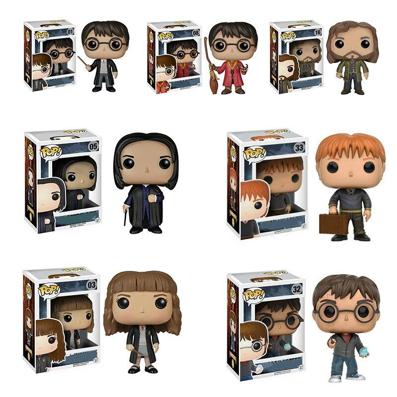 Funko Pop Harri Potter 10CM PVC   Dobby Hermione PVC Vinyl Action Figure Originais Box Collection Model Toys For Gift