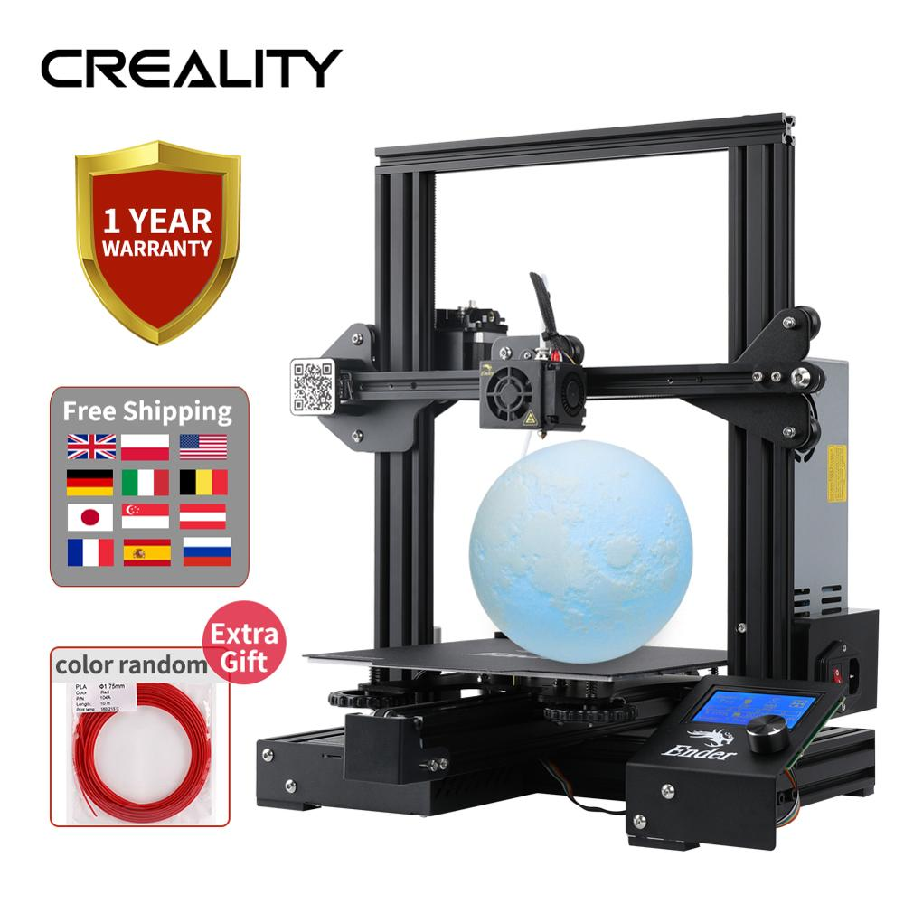Newest Upgrade Ender-3 Pro CREALITY 3D Printer Kit With Cmagnetic Bulid Sticker Resume Print Power Off Brand Power Supply