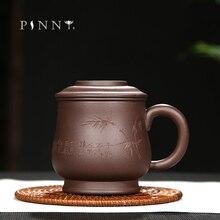 PINNY 380ML Yixing purpurowa glina kubki do herbaty naturalna ruda purpurowe błoto Tea Service Hand Made tradycyjne chińskie filiżanki ceramiczny zestaw do herbaty