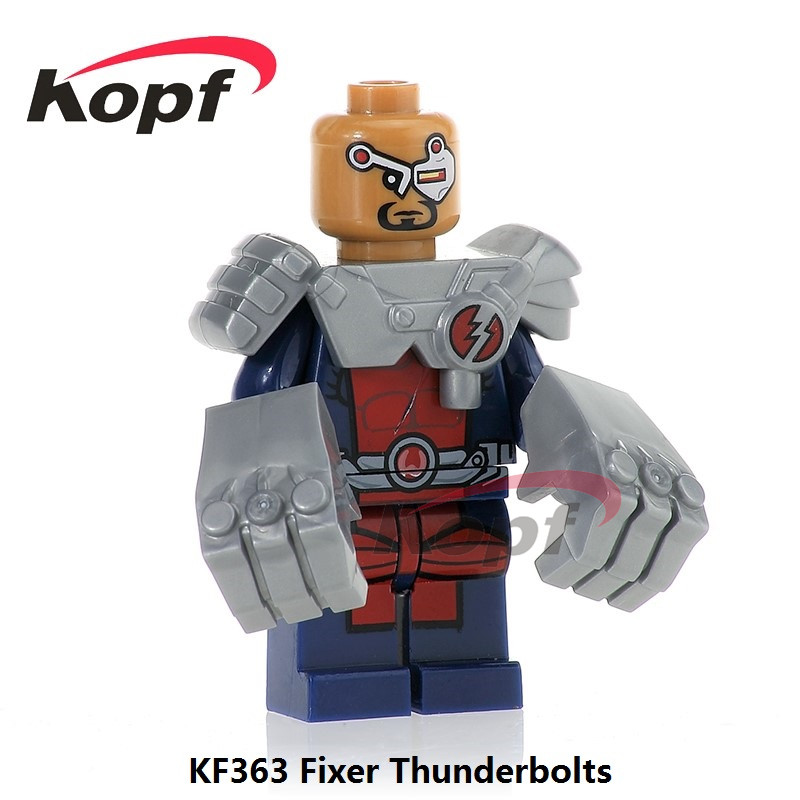 Single Sale Super Heroes Fixer Thunderbolts Captain Canuck Guardian Alpha Flight Bricks Building Blocks Children Toys Gift KF363 image