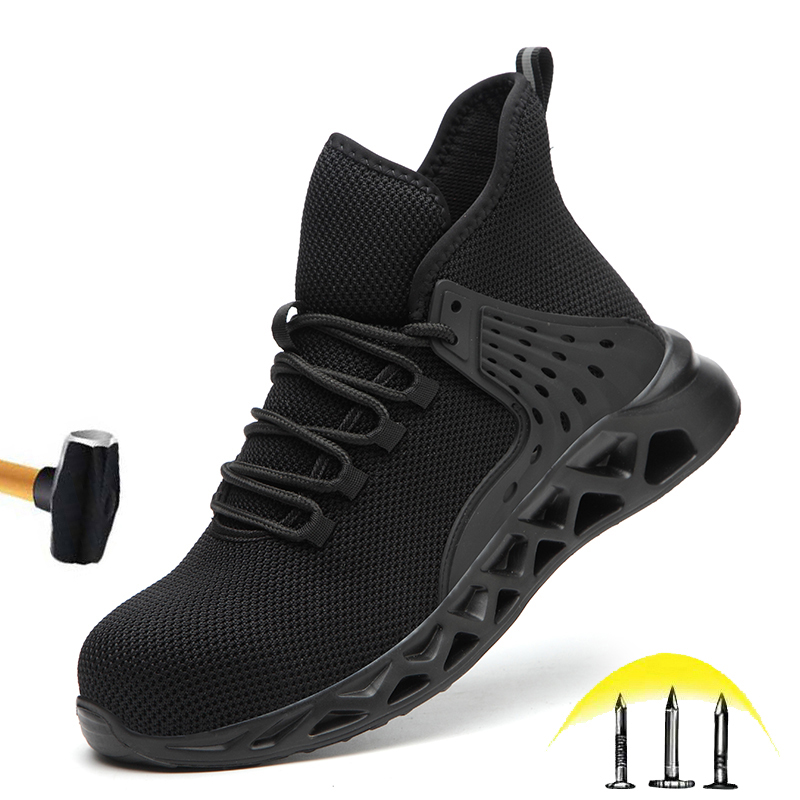 Cheap New Fashion Work Shoes 2020 Men's Outdoor Lightweight Breathable Non-slip Safety Sneakers Steel Head Anti-smashing Safety Shoes