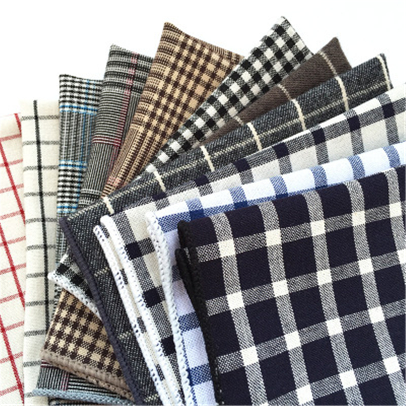 Luxury Men's Handkerchief Polka Dot Striped Floral Printed Hankies Polyester Hanky Business Pocket Square Chest Towel 23*23CM