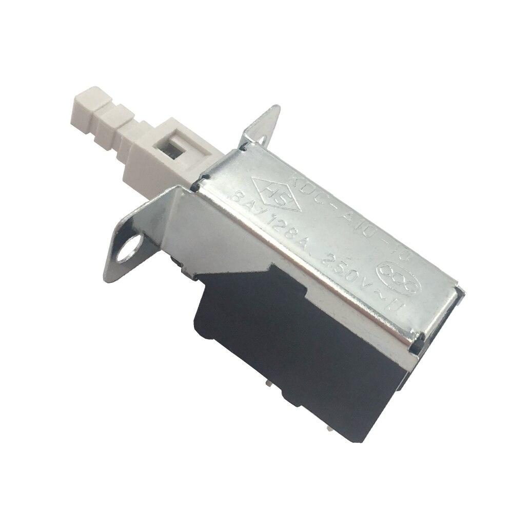 5pcs Push Button Power Switch 2pin 8A/128A 250V Power Push Switch TV-5  Self-locking