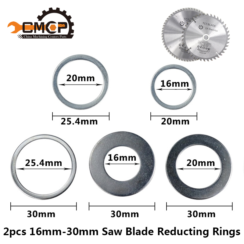 CMCP 2pcs 16mm 20mm 25.4mm 30mm Circular Saw Blade Reducting Rings Conversion Ring Cutting Disc Woodworking Tools