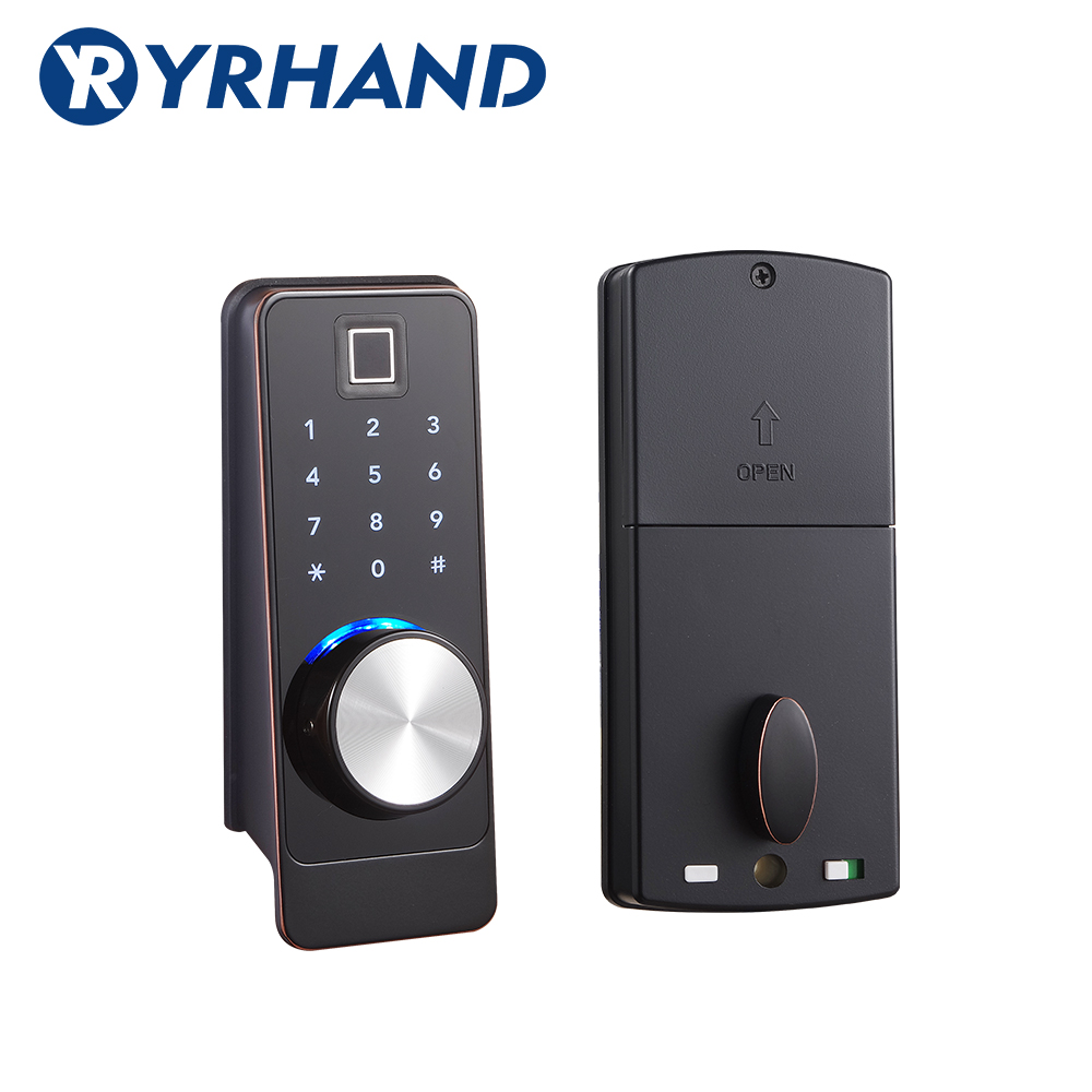 TT Lock App Smart Fingerprint Door Lock, Electronic Deadbolt Security Safe Bluetooth RFID Keypad Digital Door Lock