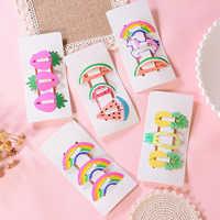 3Pcs/Set Kids Hair Accessories Fruit Pineapple Hairpins Children Paint BB Clip Girls Cute Cartoon Hair Clips Children Hair pins