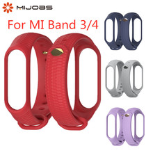 Mi Band 3 4 Strap Silicone Wrist Accessories for Xiaomi Mi Band 3 4 Smart Watch Sport Wristbands Miband 3 4 Band Bracelet