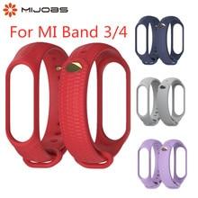 Mi Band 3 4 Strap Silicone Wrist Accessories for Xiaomi Smart Watch Sport Wristbands Miband Bracelet