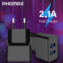 PHOMAX USB Charger 5V 2.1A Universal Portable Travel Wall for iPhone X xs xr 8 Plus 6s Samsung S8 S9 Xiaomi mi8 7 Huawei
