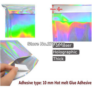 Image 3 - 100pcs Self seal Adhesive Courier Bags Laser Holographic Plastic Poly Envelope Mailer Postal Shipping Mailing Bags
