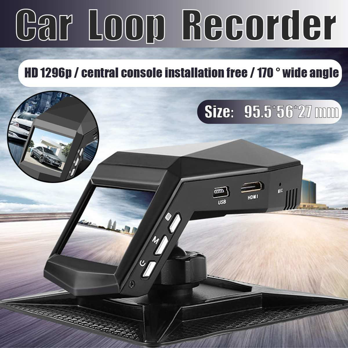 The Central Console Does Not Install Perfume Traffic Recorder 1080p Night Vision Car DVRS Dash Cam Car Video Recorder