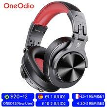 Oneodio Fusion المهنية السلكية ستوديو DJ سماعات سماعة لاسلكية تعمل بالبلوتوث 5.0 سماعة HIFI ستيريو رصد سماعة مع مايكروفون