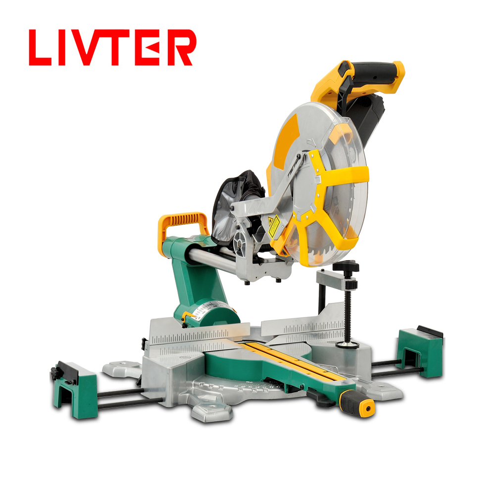 LIVTER 12 Inches Free Cutting Angle Portable Compound Sliding Mitre Saw Cutting Machine Stand Miter Saws For Aluminium,wood