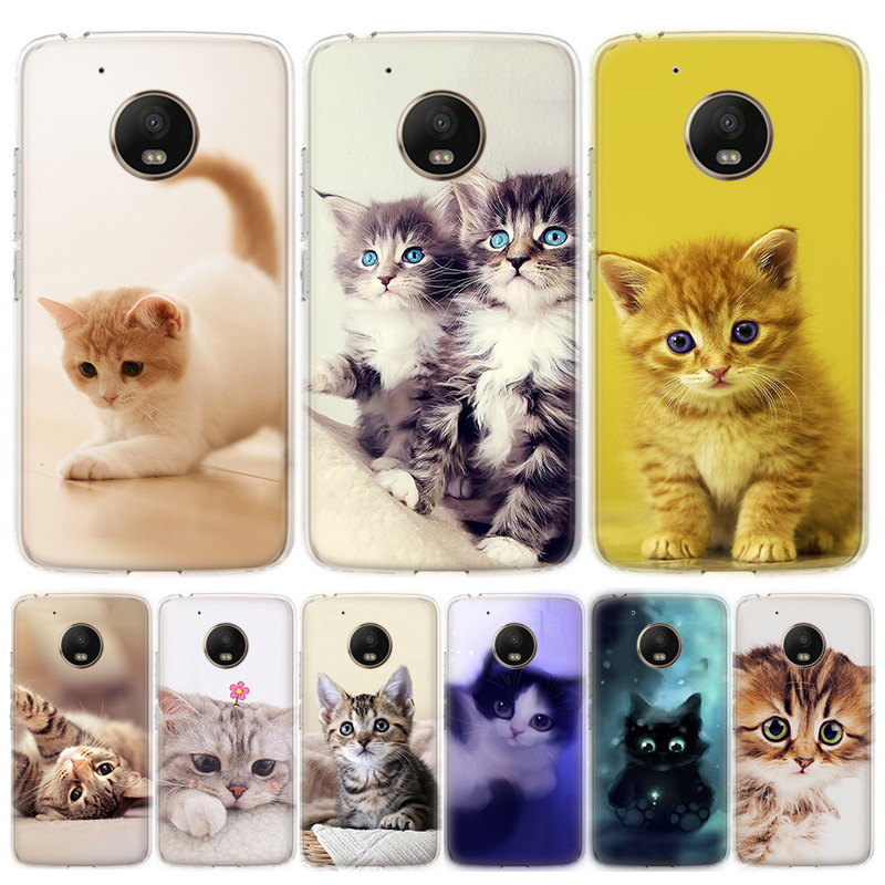 Animal More Cute Fox Cat Phone Case For MOTO Motorola G8 E4 E5 E6 G7 G6 G5S Plus Play Power ONE Action Cover Coque Soft Silicone