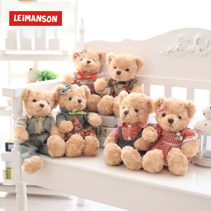 30CM Height Teddy Bear Christmas Decorations For Home Osos De Peluche Tedy Bear Stuffed Toy Cute Plush Birthday Gifts Kids Teddy