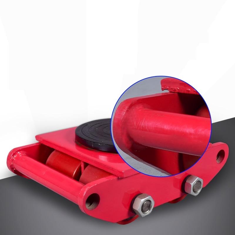 6t CRA Series Small Warehouse Cargo Trolley, Moving Skate,transport Platform Roller Tank Trolley, Roller Skid