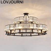 Jantar Luminaria Colgante industrial Deco casa suspensión Luz de cristal Lampara Colgante Luminaria suspendida lámpara Colgante