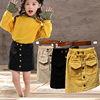 Baby Girl Skirt Spring And Autumn Children'sCorduroy SkirtCotton Gray Velvet Skirt Children'sClothing 1