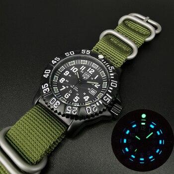 Men's watch quartz watch military watch multi-function tube luminous outdoor watch NATO nylon watch sports diving watch watch guess watch