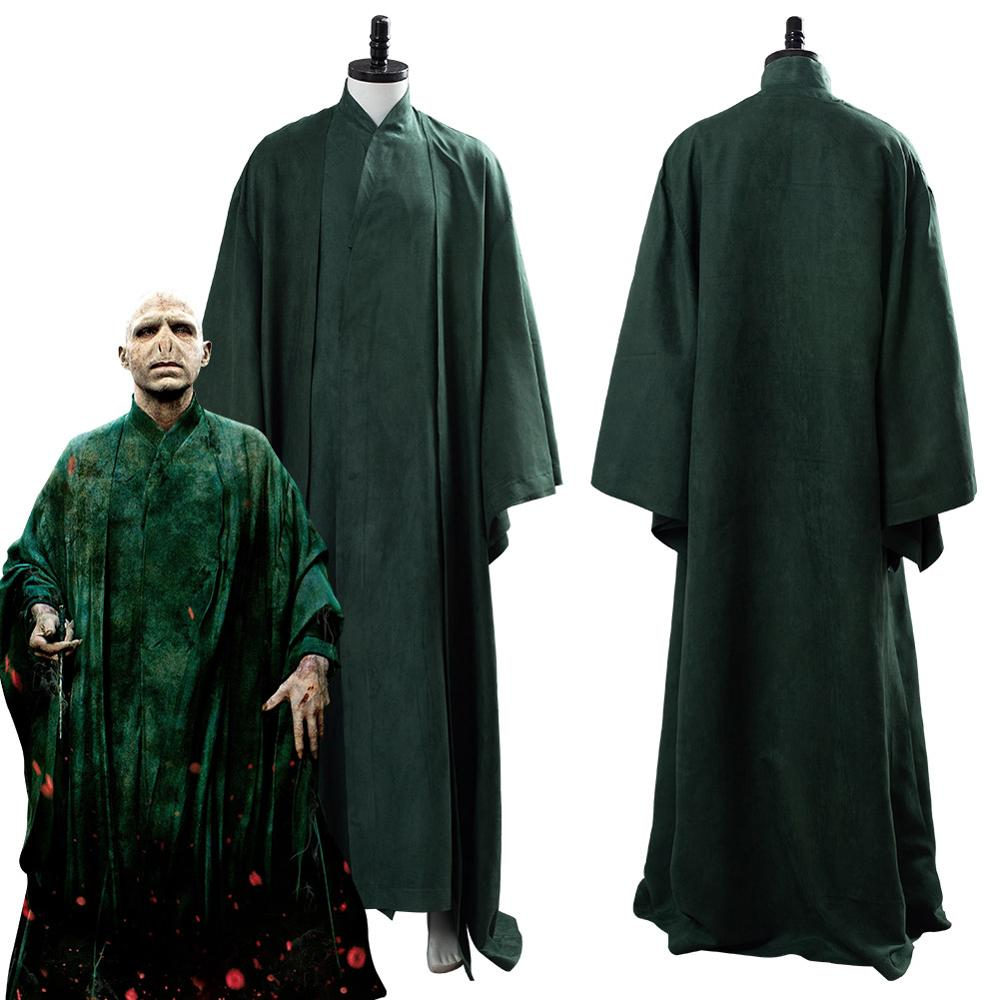 Lord Voldemort Cosplay Costume Adult Men Green Uniform Halloween Carnival Costumes Custom Made