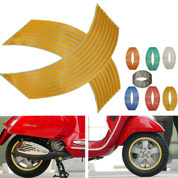 16Pcs Motorcycle Car Wheel Tire Stickers Reflective Rim Tape Moto Auto Decals For Honda cbr 600rr 600 rr 1000rr 1100xx 929 image